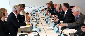 The Claims Conference negotiating delegation met with German government officials at Yad Vashem.