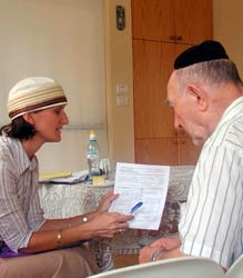 Claims Conference Institutional Allocations to Assist Survivors in Northern Israel