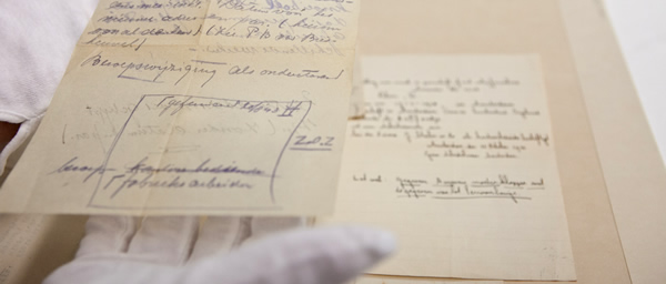 Notes taken by Jerry van Heel in the Netherlands, who forged identification cards and documents. The collection of his documents and items were donated to the museum by Elise Kann Jaeger, who lived in hiding with the van Heel family during the war.