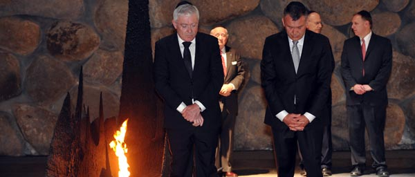 German government officials laid a wreath at Yad Vashem where the Claims Conference negotiated for additional funding for Holocaust survivors.