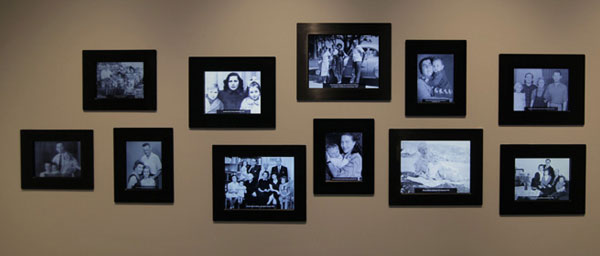 """The """"Return to Life"""" gallery shows interchanging photographs of Holocaust survivors with their families."""