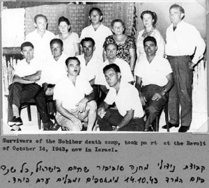 Survivors of the October 14, 1943 uprising at Sobibór in Israel after the war.