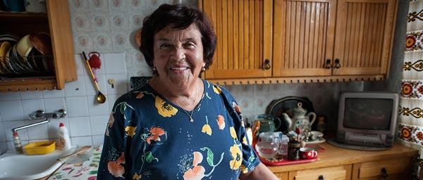 Lilija escaped from the Minsk ghetto as a child. Today she receives services from the JDC in Vilnius through a grant from the Claims Conference.