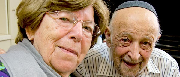 Chava and David Rosenthal enjoy spending the afternoon at the Givatayim Day Center in Israel, which receives a grant to care for Holocaust victims.