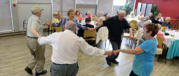 "Holocaust victims dance at the ""Reaching Out"" socialization program of Jewish Child and Family Service of Winnipeg, Canada which is supported by a Claims Conference grant."
