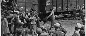 Lodz, Poland, Jews boarding a deportation train from the ghetto, July or August 1944. Photo Yad Vashem