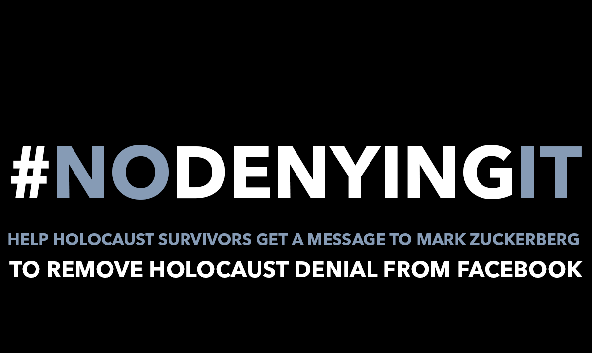 Claims Conference Statement Re: Facebook Policy Change: Holocaust Denial and Distortion